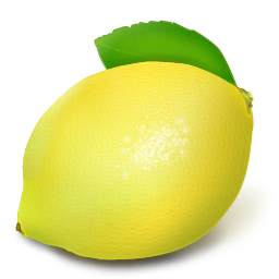 Cartoon lemon png. Icon fruit and vegetable