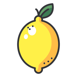 Limon vector sliced. Lemon cartoon transparent png