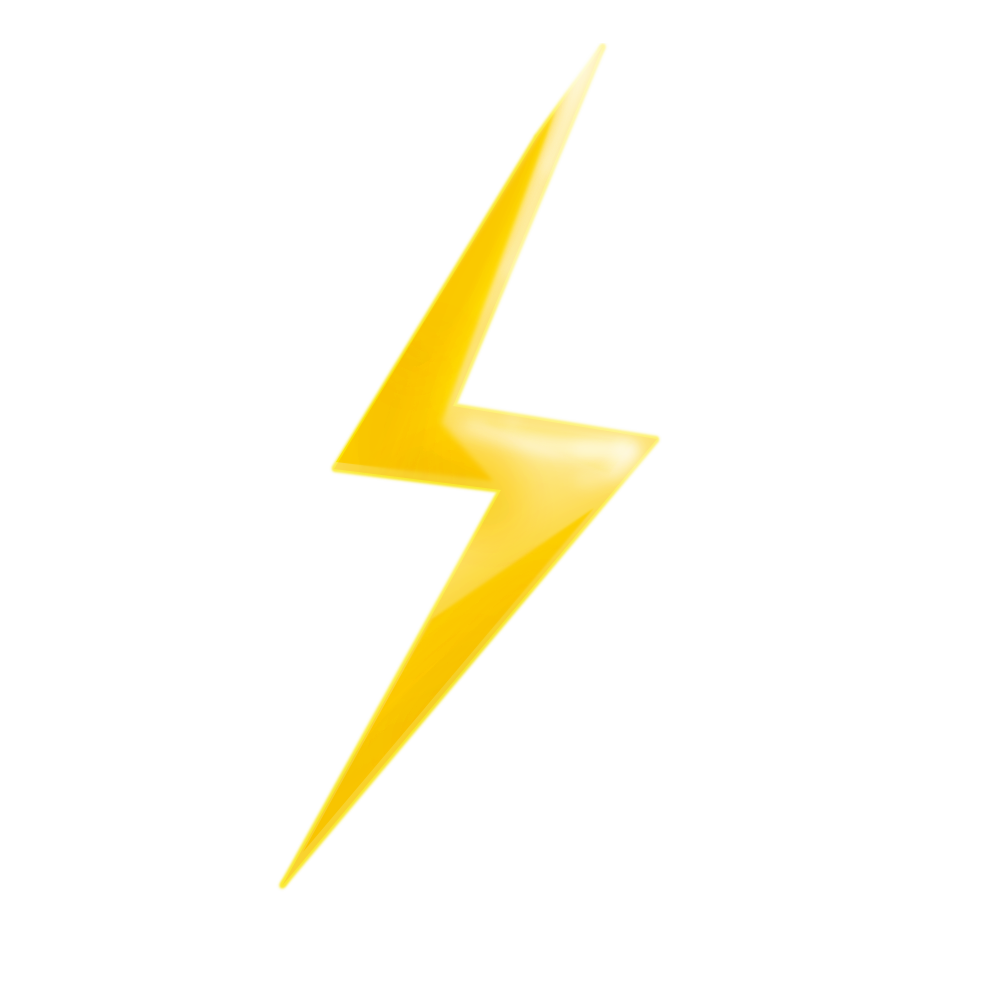 Cartoon lightning png. Rain hand painted yellow