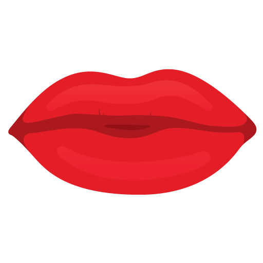 Cartoon lips png. Red transparent stickpng