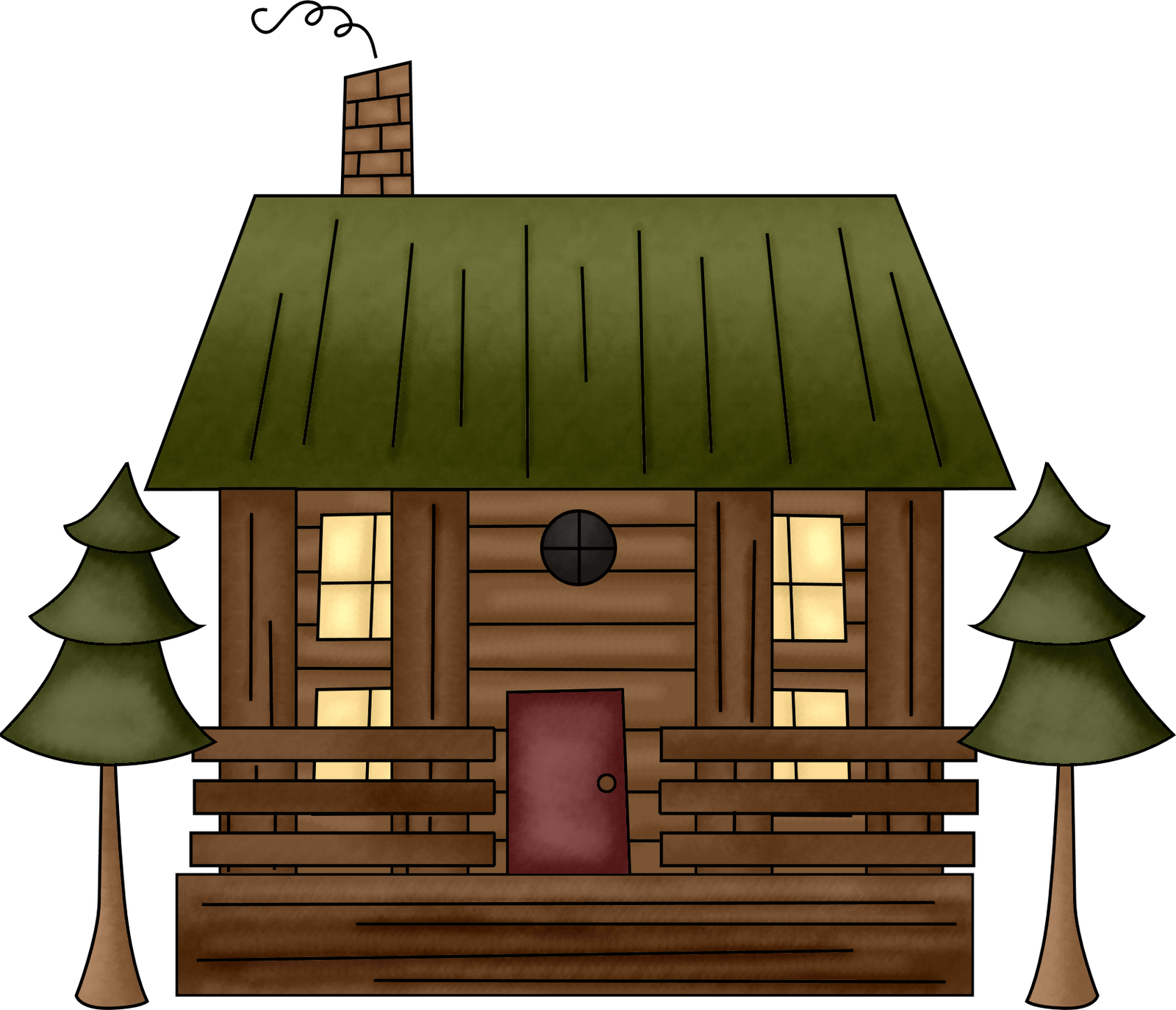 Log house png. Cabin cartoon cottage drawing