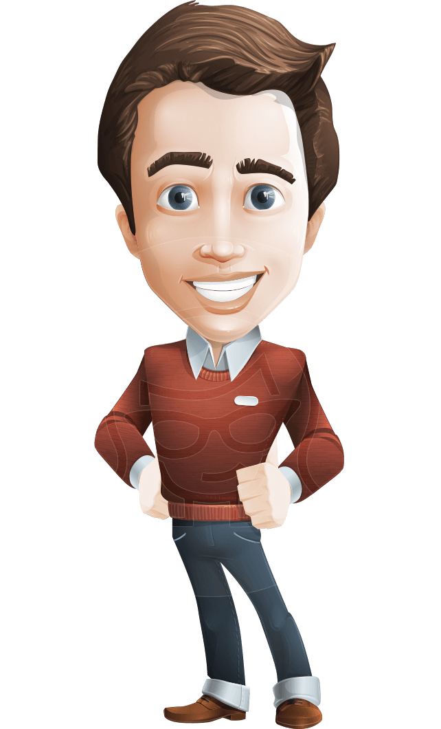 Man cartoon character sam. Vector working image freeuse