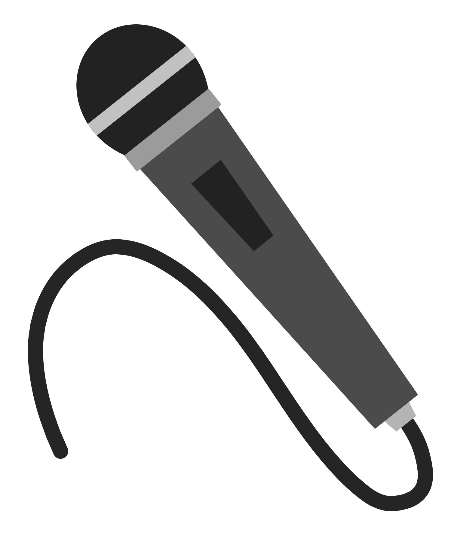 Cartoon microphone png. Radio clipart panda free
