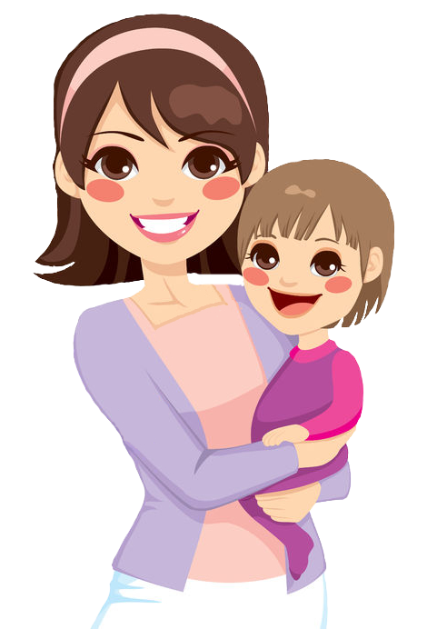 Cartoon mom png. Home a virtuous mother