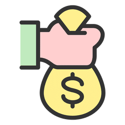 Cartoon money bag png. Coins transparent svg vector