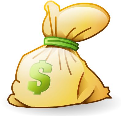 Cartoon money bag png. Download cash icon image