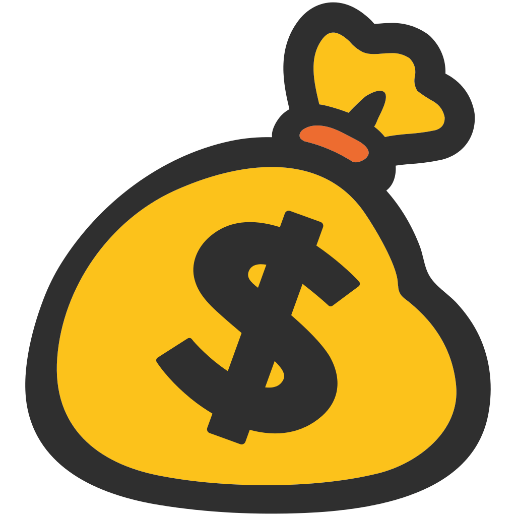 Cartoon money bag png. Emoji transparent stickpng download