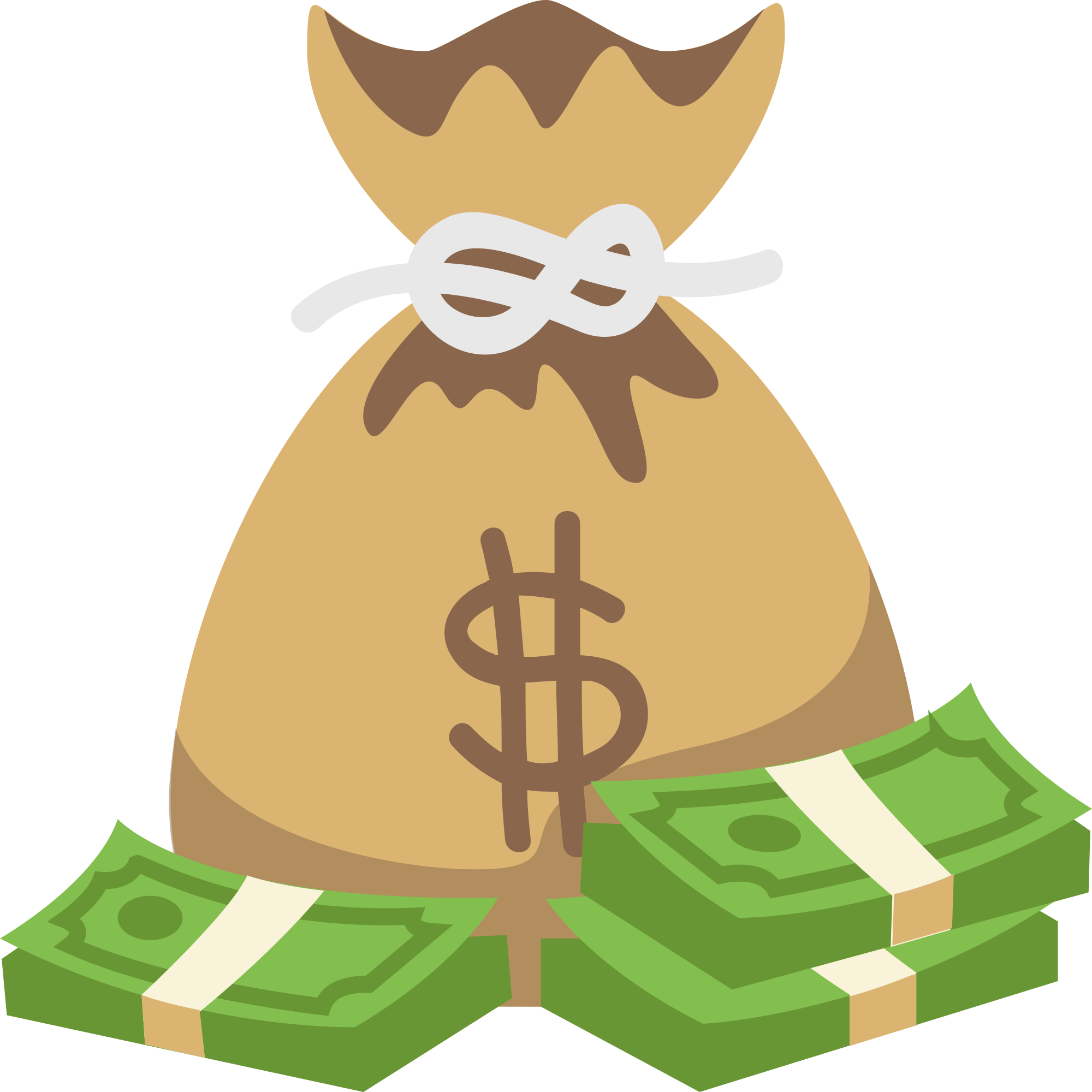 Cartoon money bag png. File emojione f b