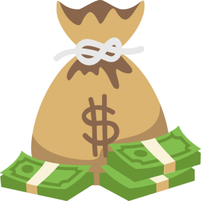 Cartoon money bag png. Download free transparent image