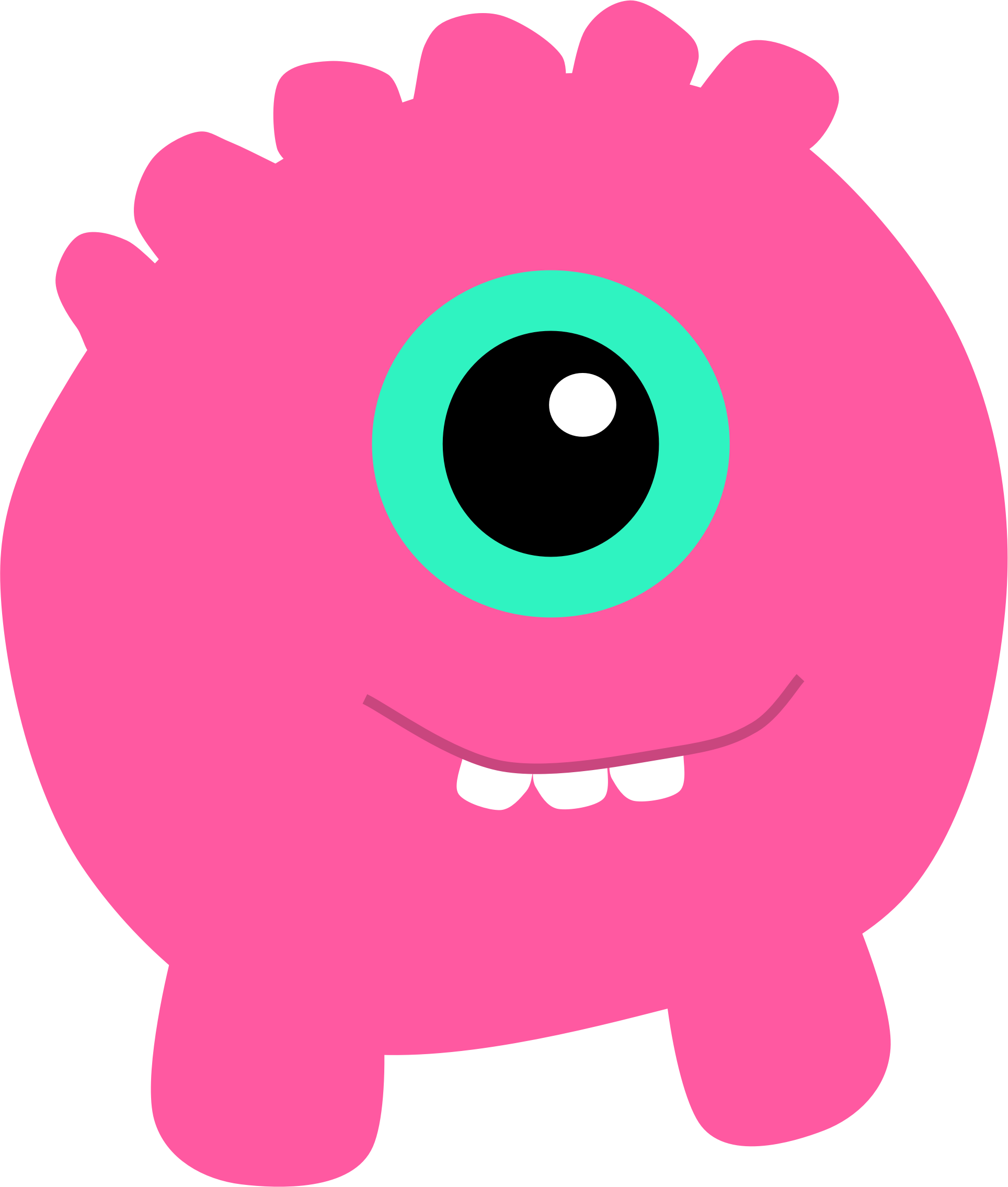 Cartoon monster png. Pink icons free and