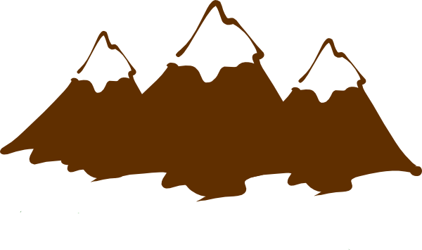 Cartoon mountains png. Mountain clipart brown peaks