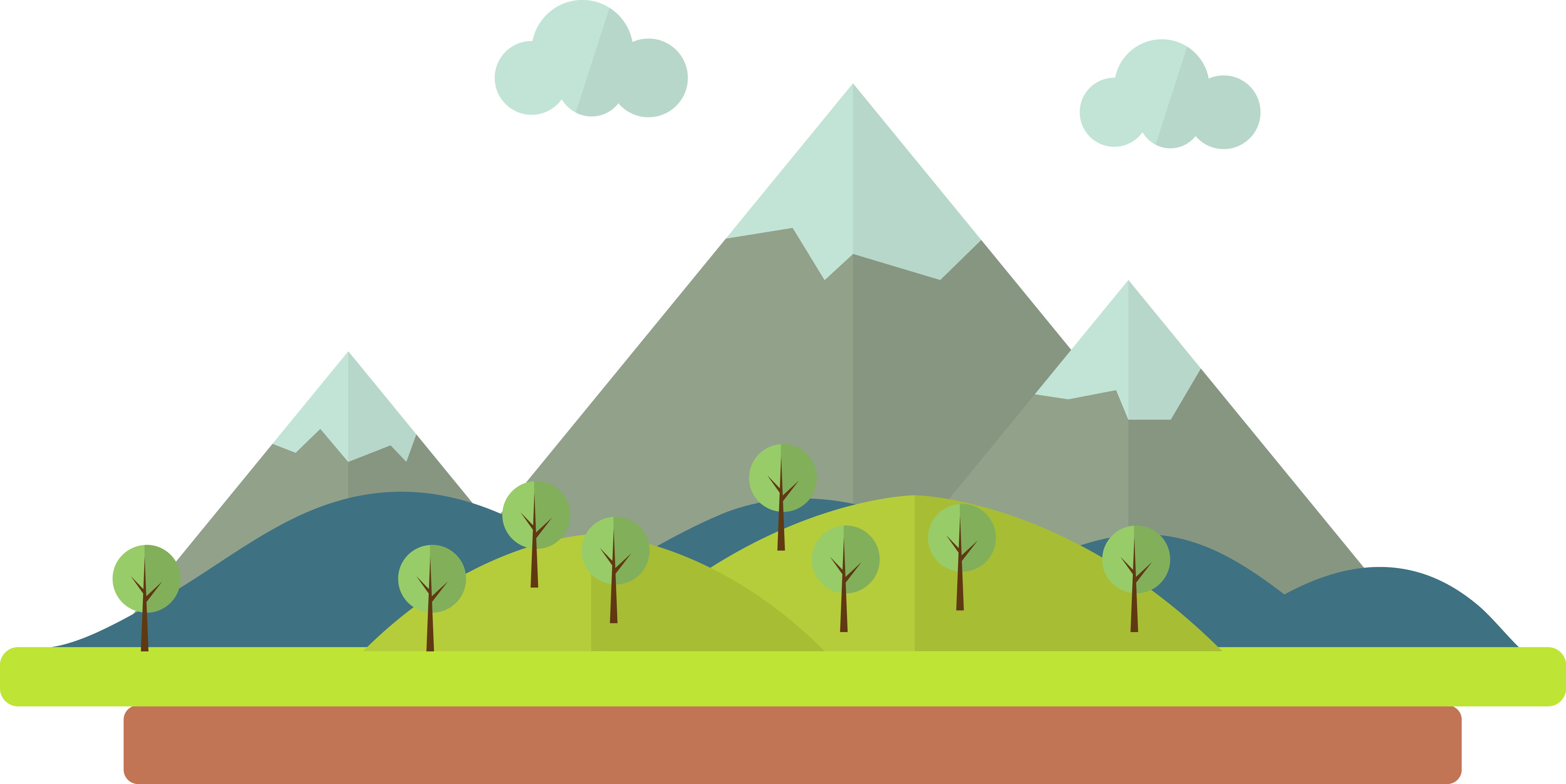 Cartoon mountains png. Drawing illustration mountain scenery
