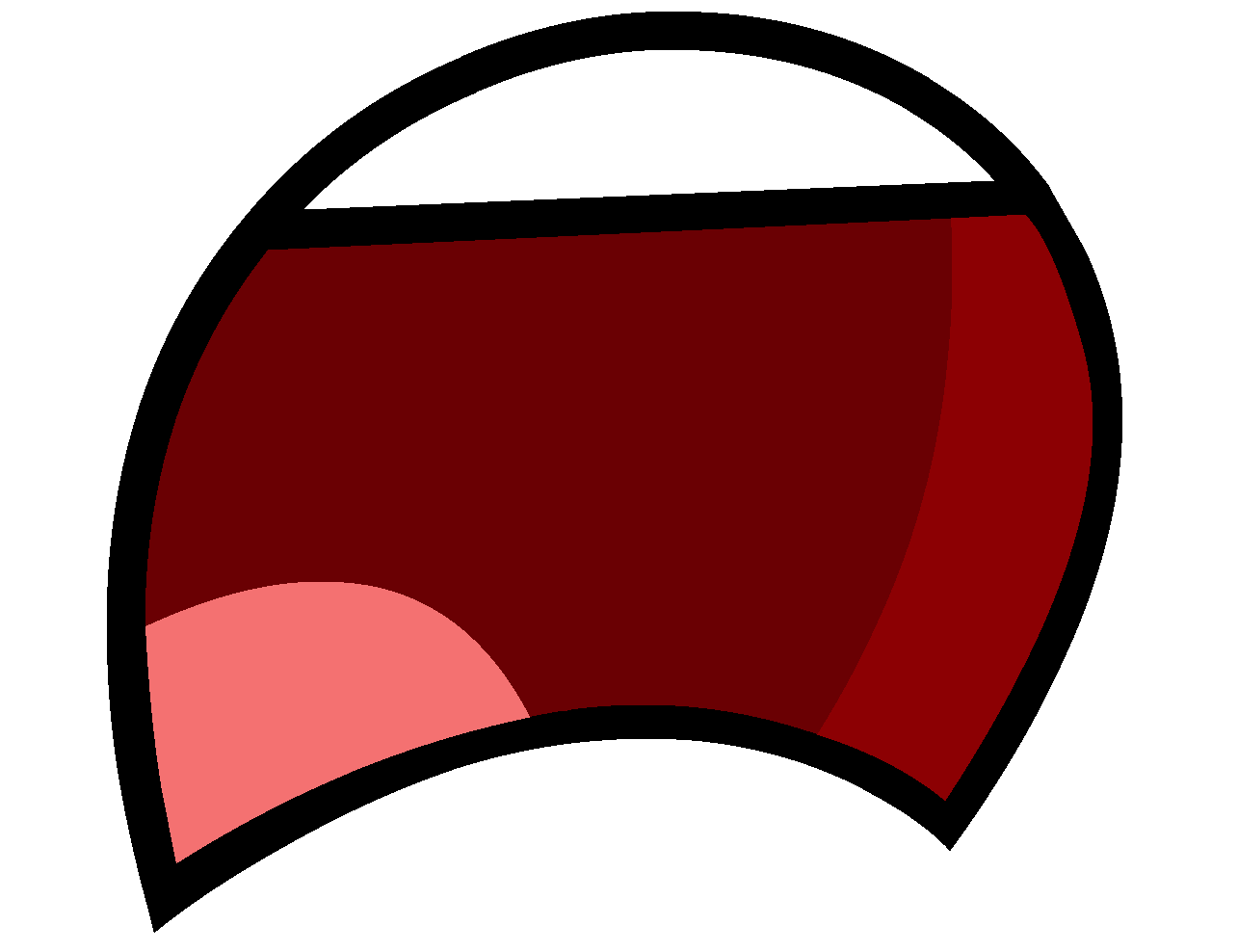 Cartoon mouth png. Image wide open frown