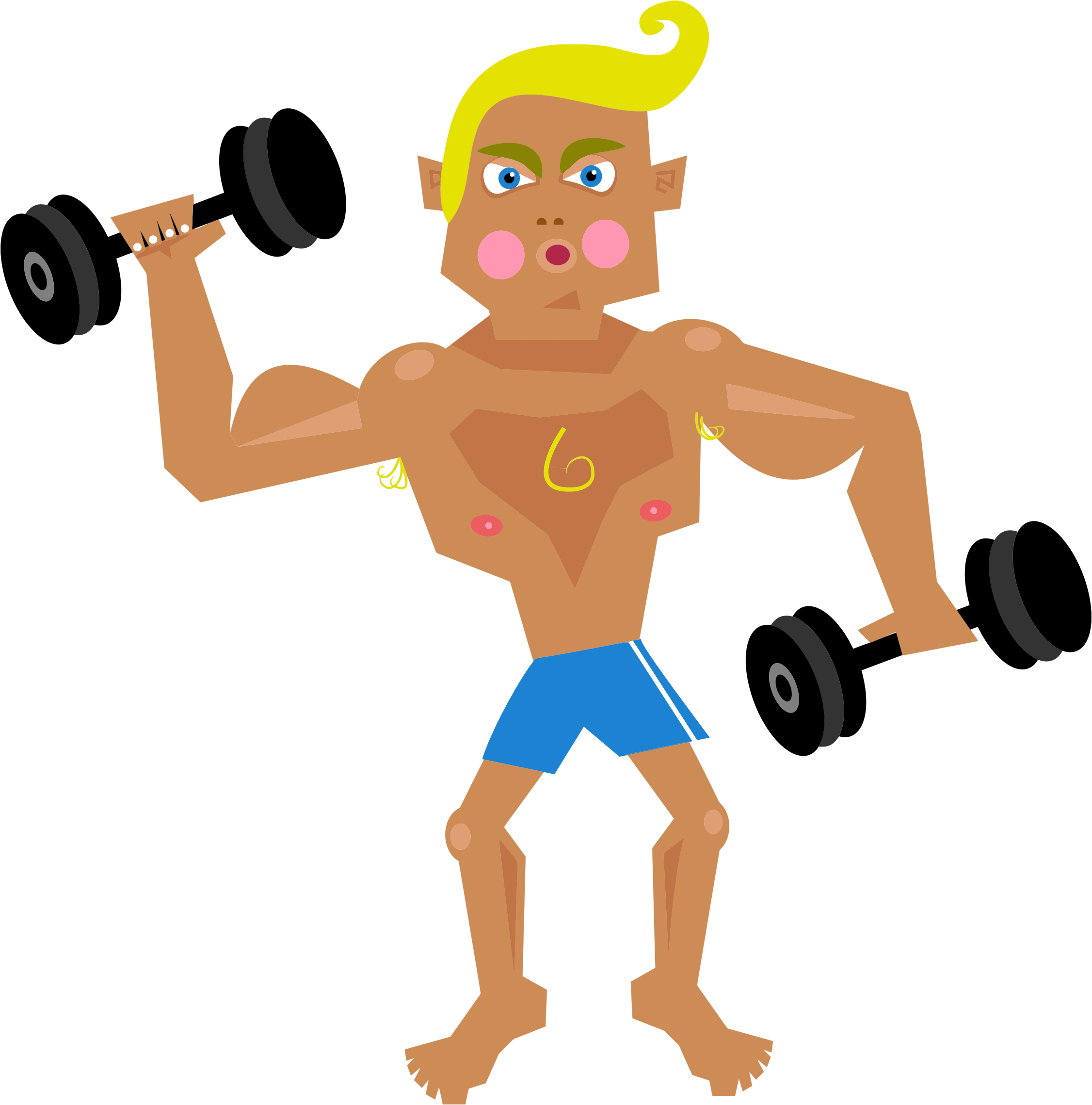 Cartoon muscle man png. Icons free and downloads