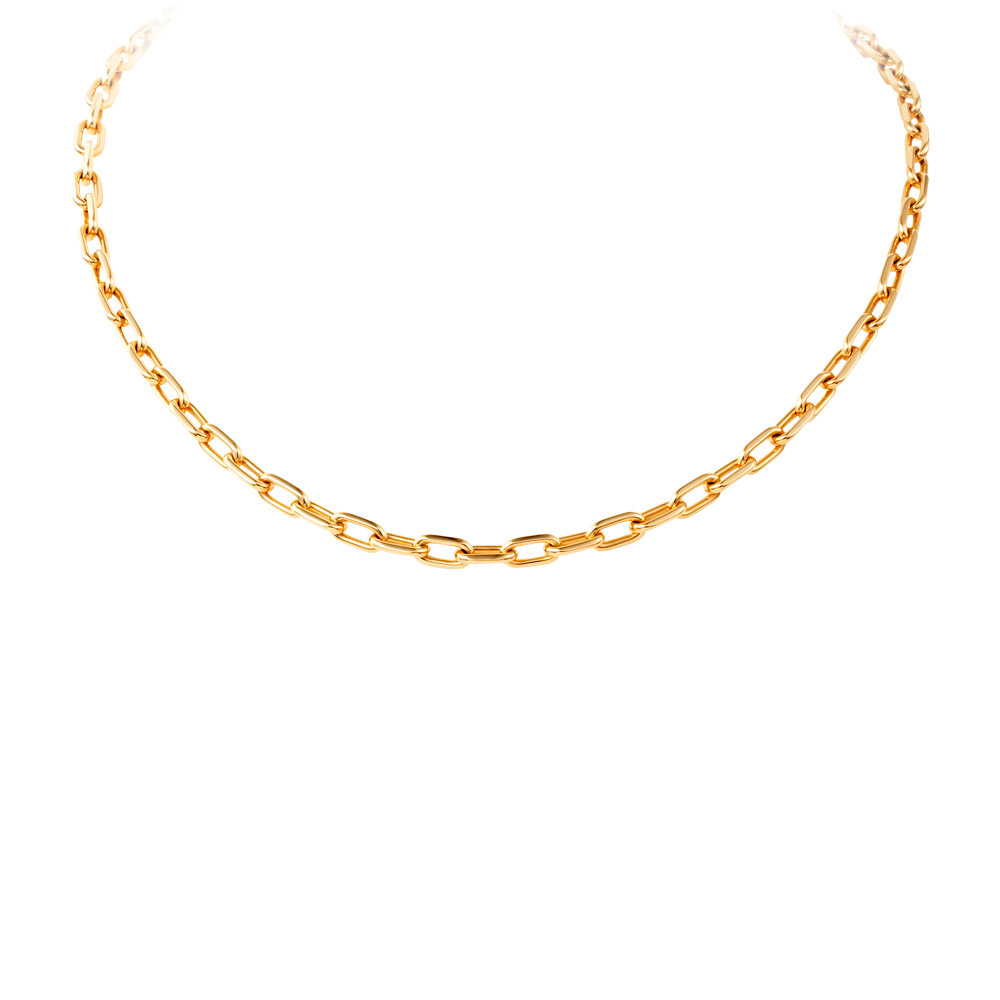 Cartoon necklace png. Gold link chain mart
