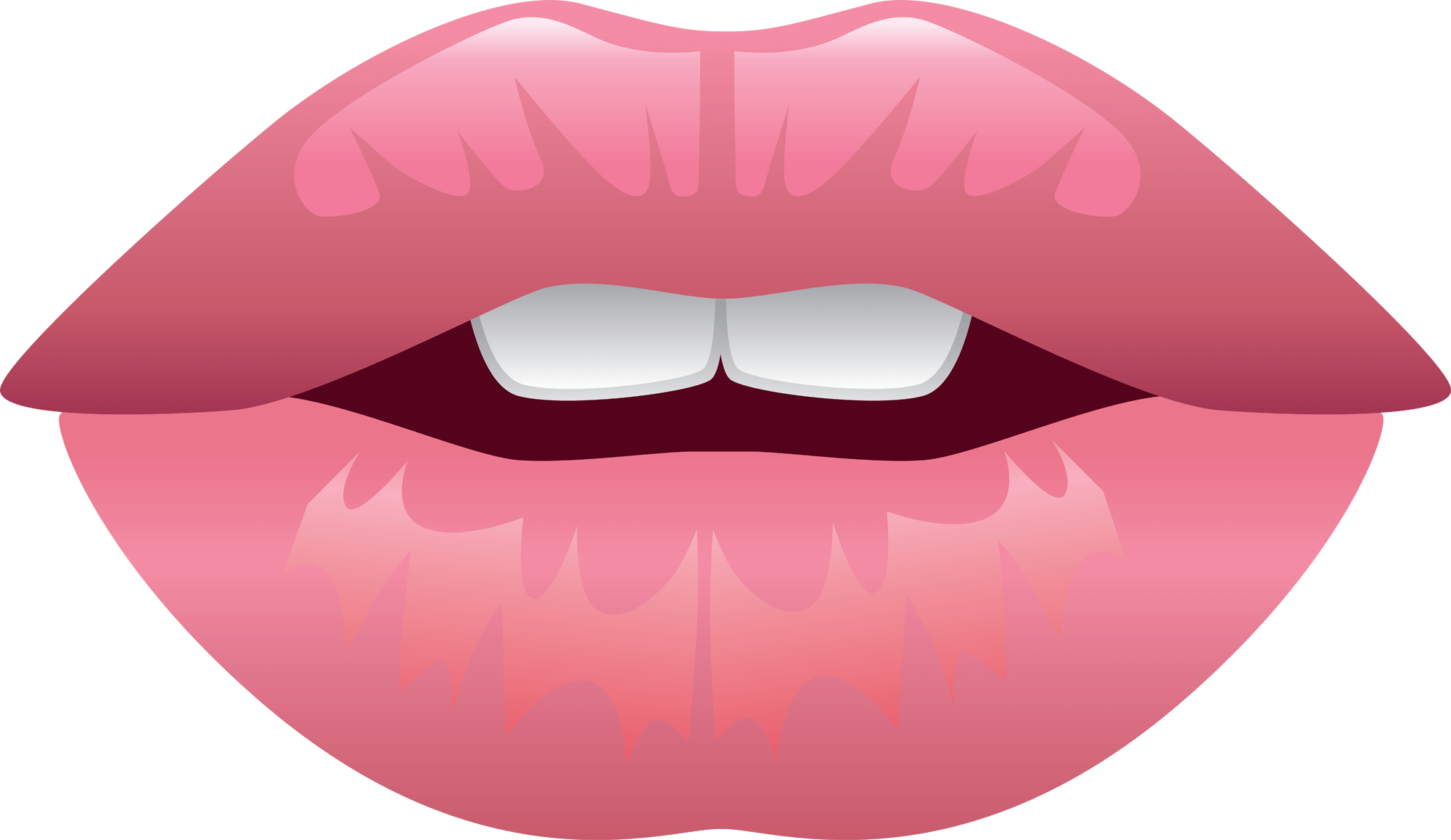 Cartoon nose png. Lips teeth realistic transparent