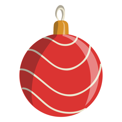 Cartoon ornaments png. Christmas ball icon transparent