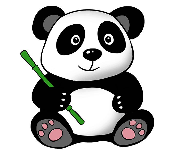 Panda drawing png. Giant bear clip art