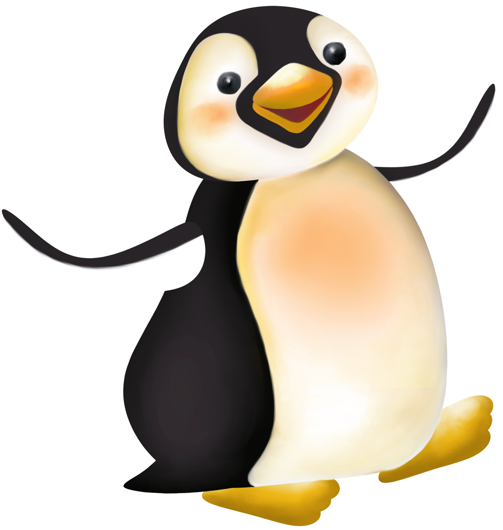 Penguin png clipart. Large cartoon gallery yopriceville