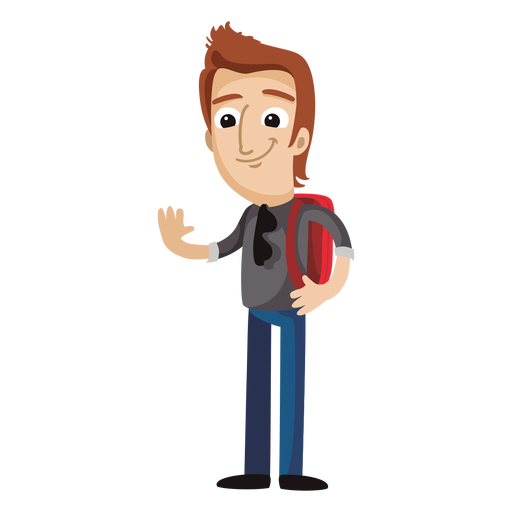 People cartoon png. Male student free svgs