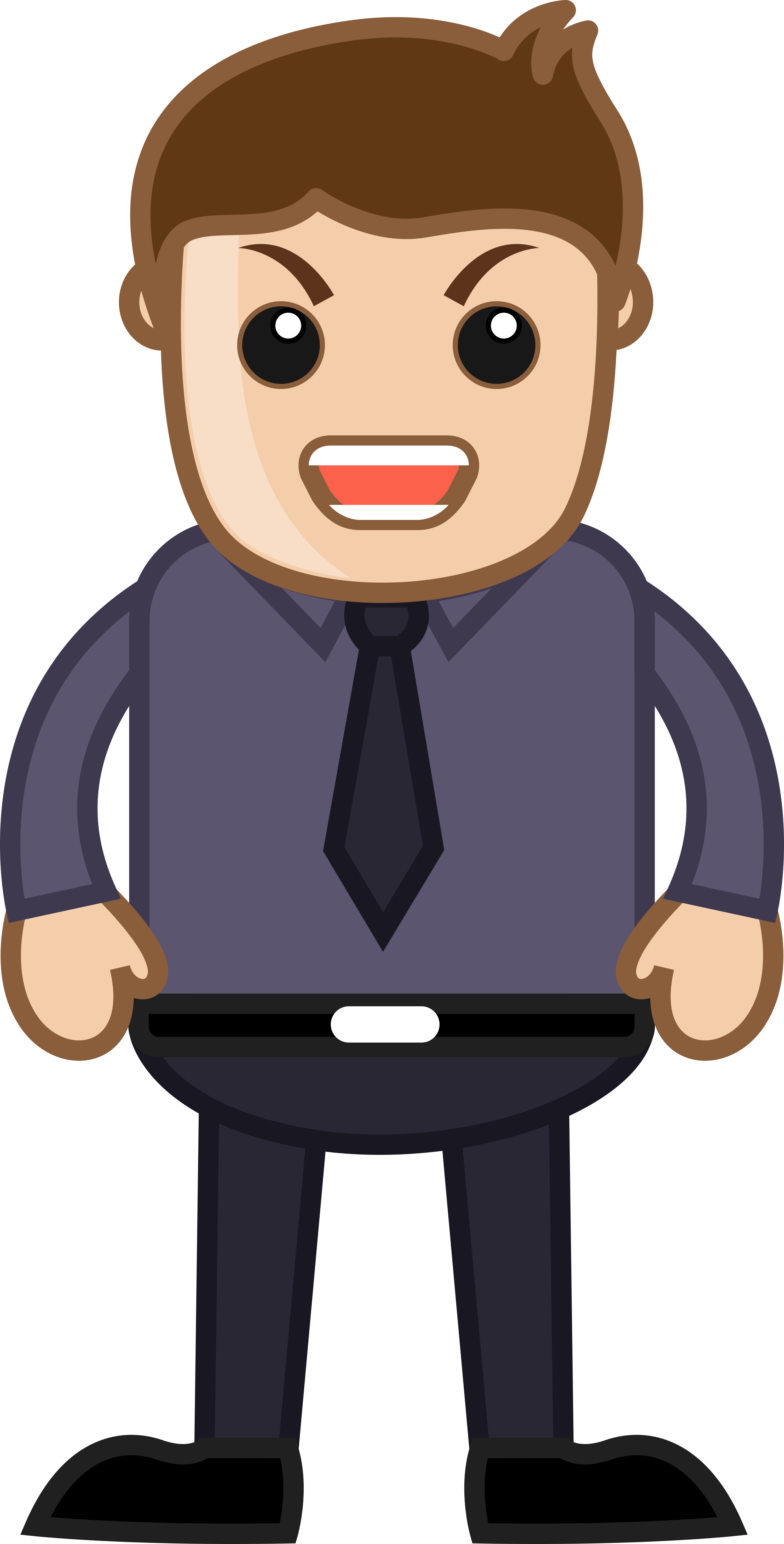 Cartoon people png. Angry man office corporate