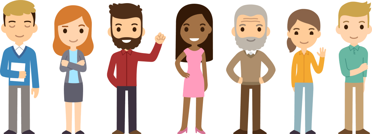 Cartoon people png. Personal injury compensation claims