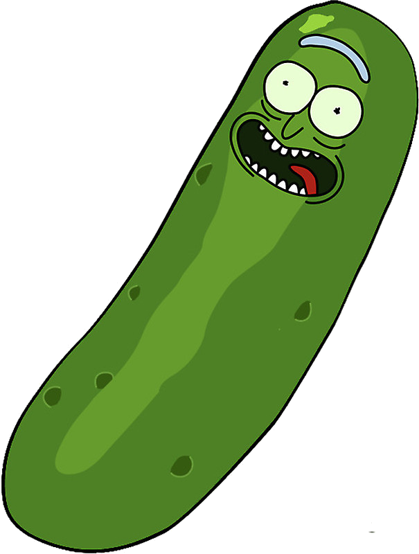 Pickle rick face png. Image transparent and morty