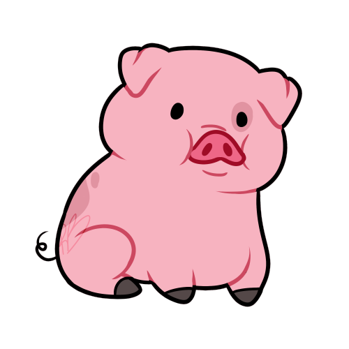 boss drawing pig
