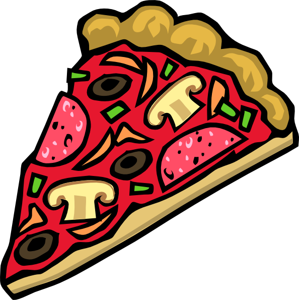 Cartoon pizza png. And salad clipart