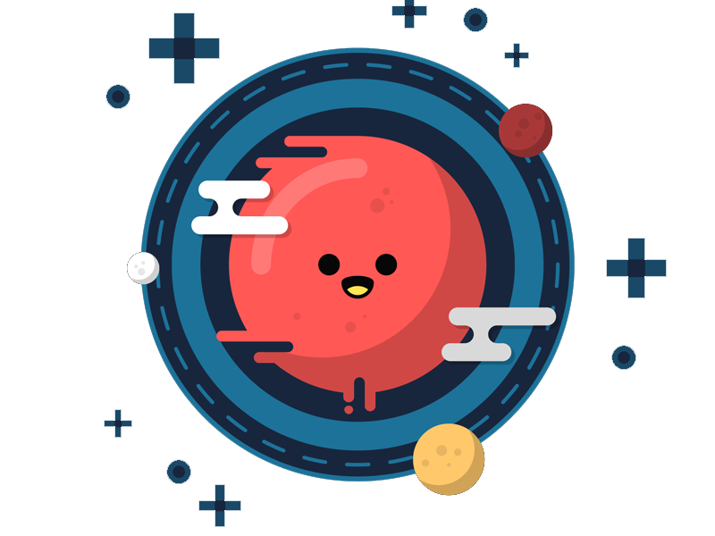 Cartoon planet png. Earth red transprent free