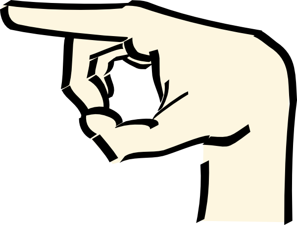 Cartoon pointing finger png. Hand clip art at