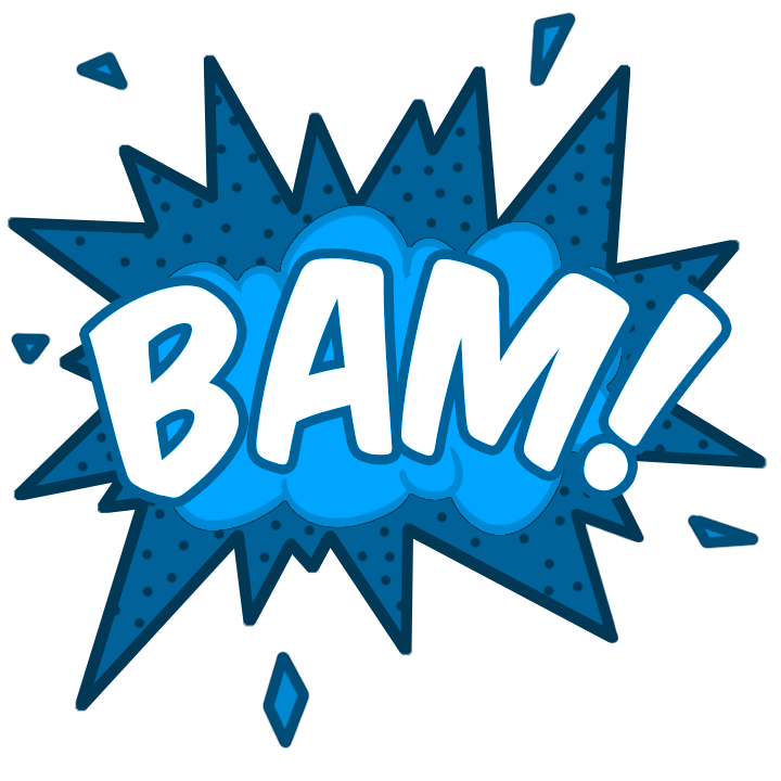Free icon download comic. Cartoon pow png image black and white stock