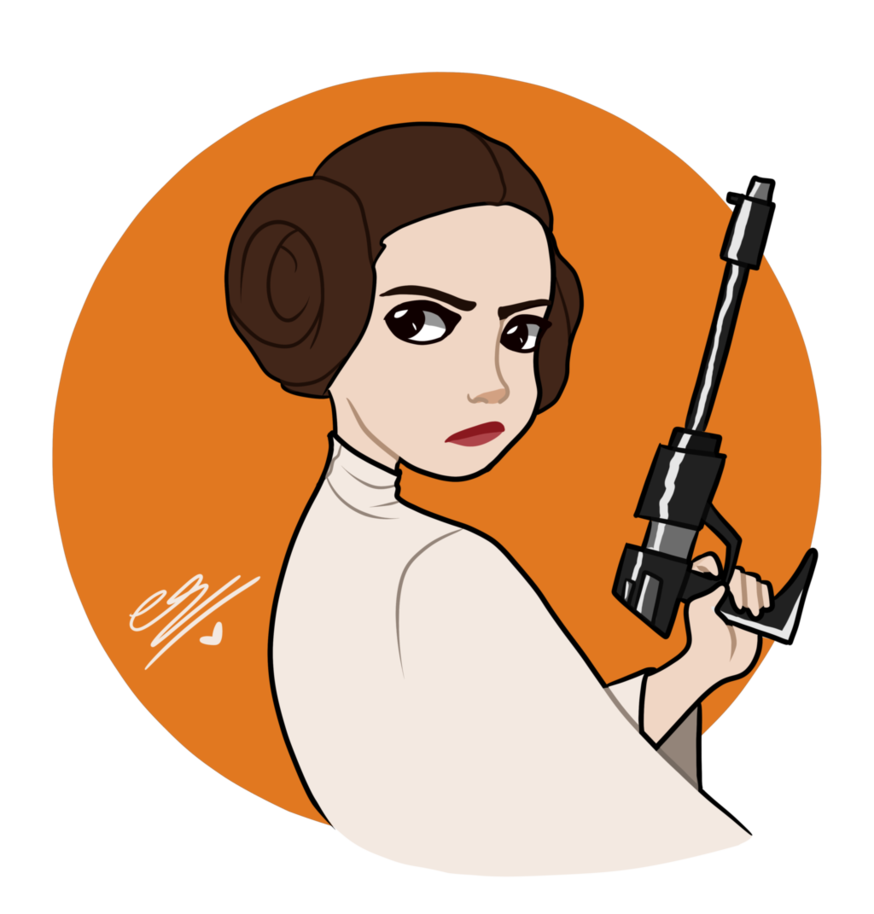 leia drawing ink