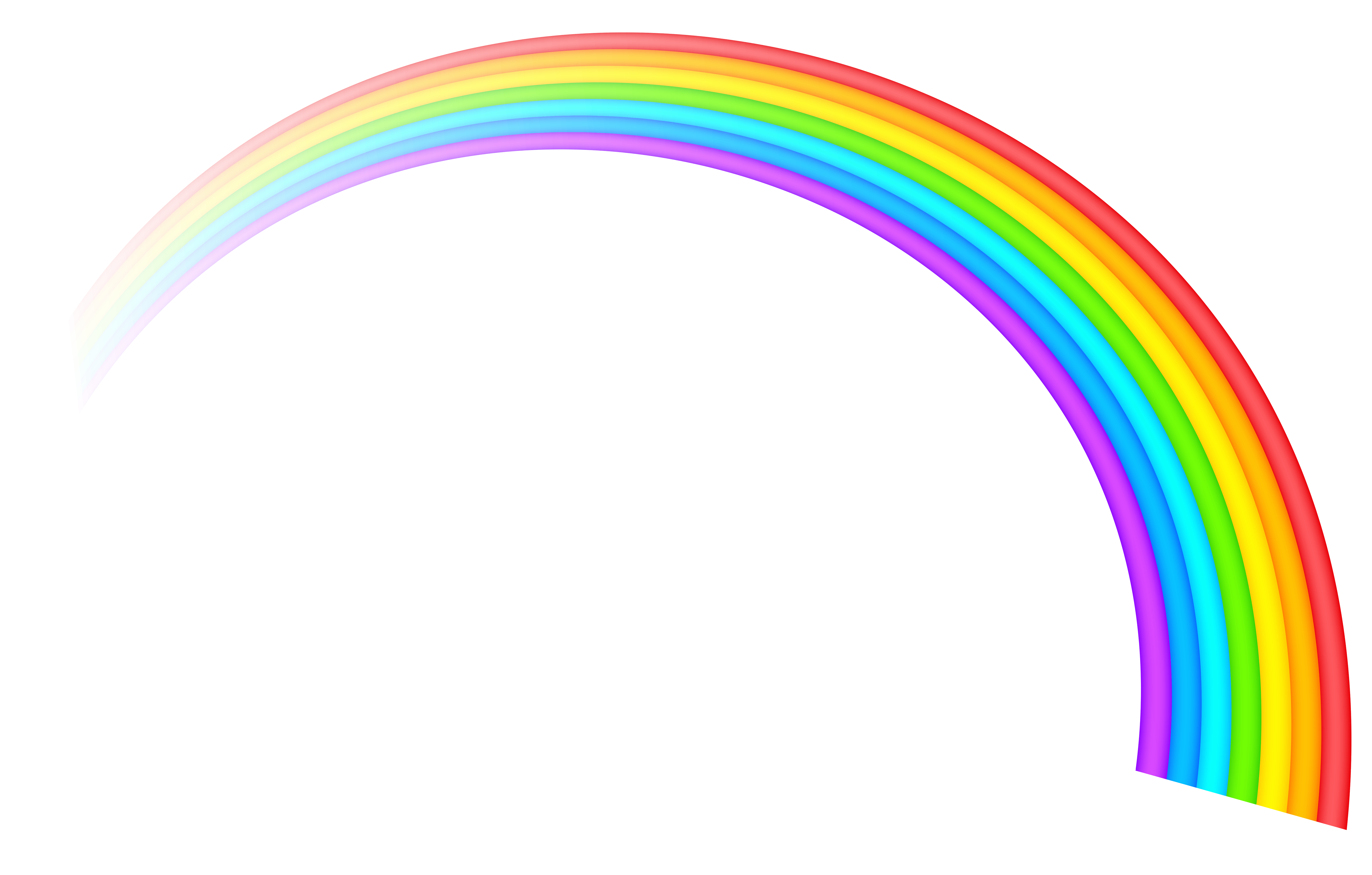 Cartoon rainbow png. Transparent clipart picture gallery