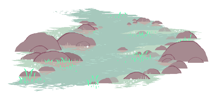 Drawing river cartoon. Pixel icon by sagatale