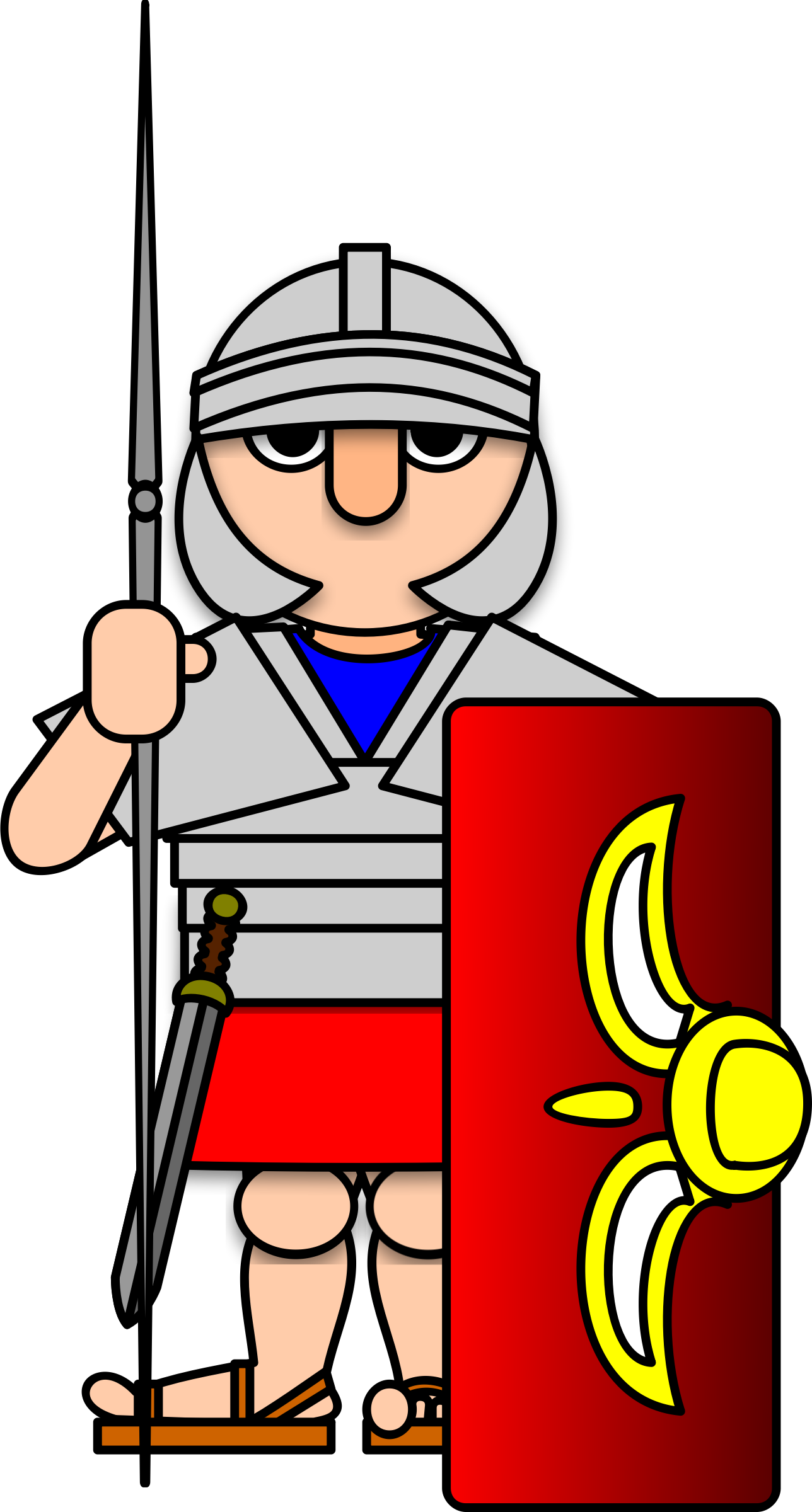 Cartoon roman spear png. Collection of army