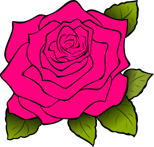 Cartoon rose png. Pink clip art at