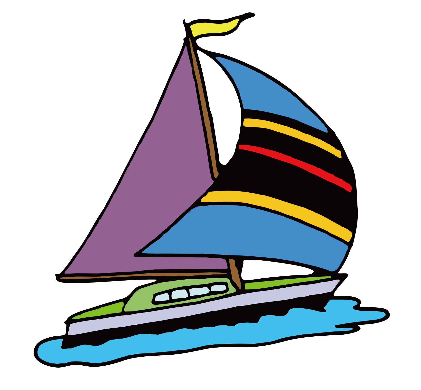 Cartoon sailboat png. Sailing ship clip art