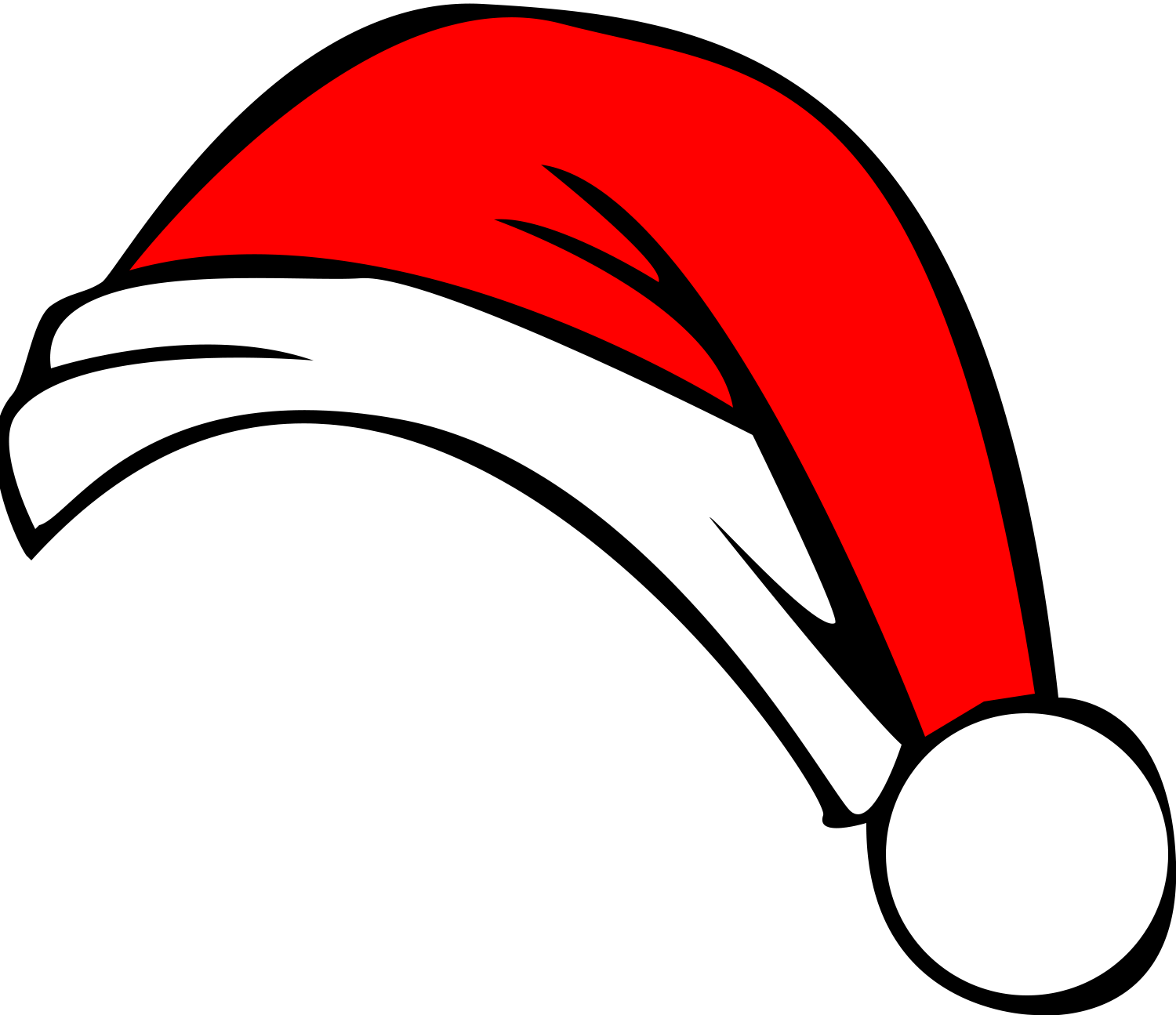 Cartoon santa hat png. Clip art