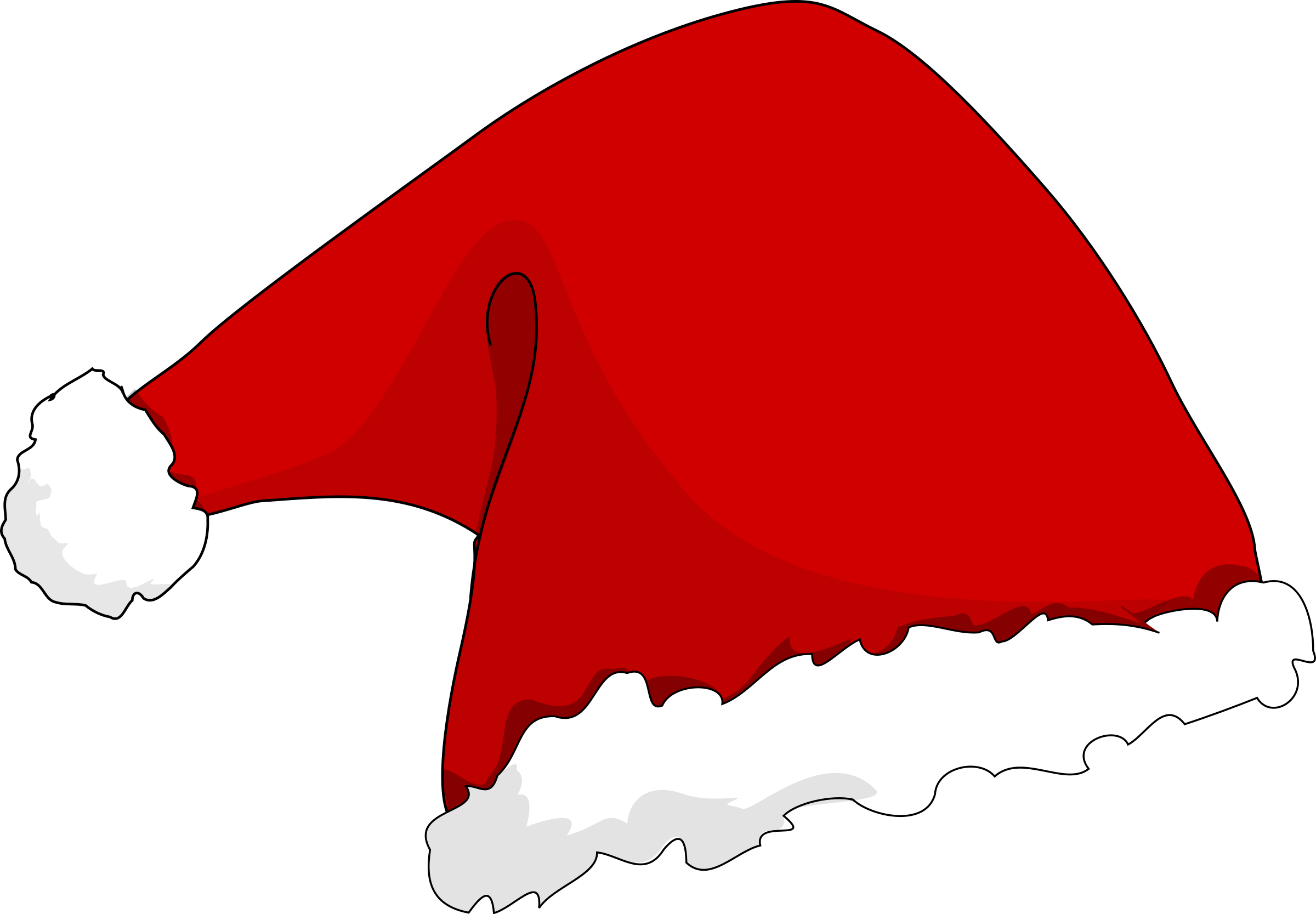 Cartoon santa hat png.