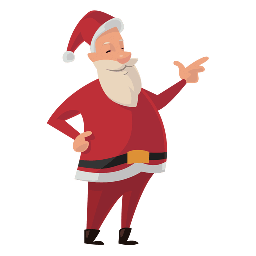 Vector santa. Pointing cartoon transparent png picture royalty free stock
