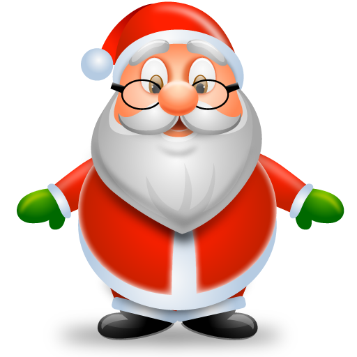 Cartoon santa png. Stunning christmas icons by