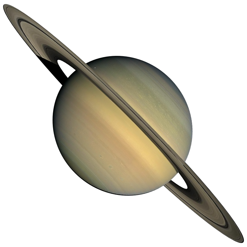 Transparent saturn shape