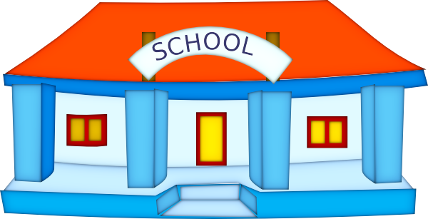 Cartoon school png. Building clip art at