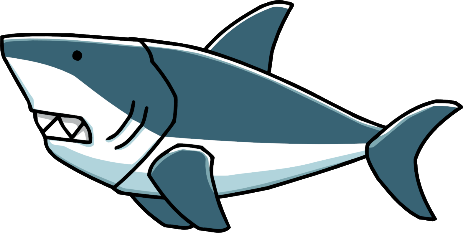 Cartoon shark png. Image great white scribblenauts