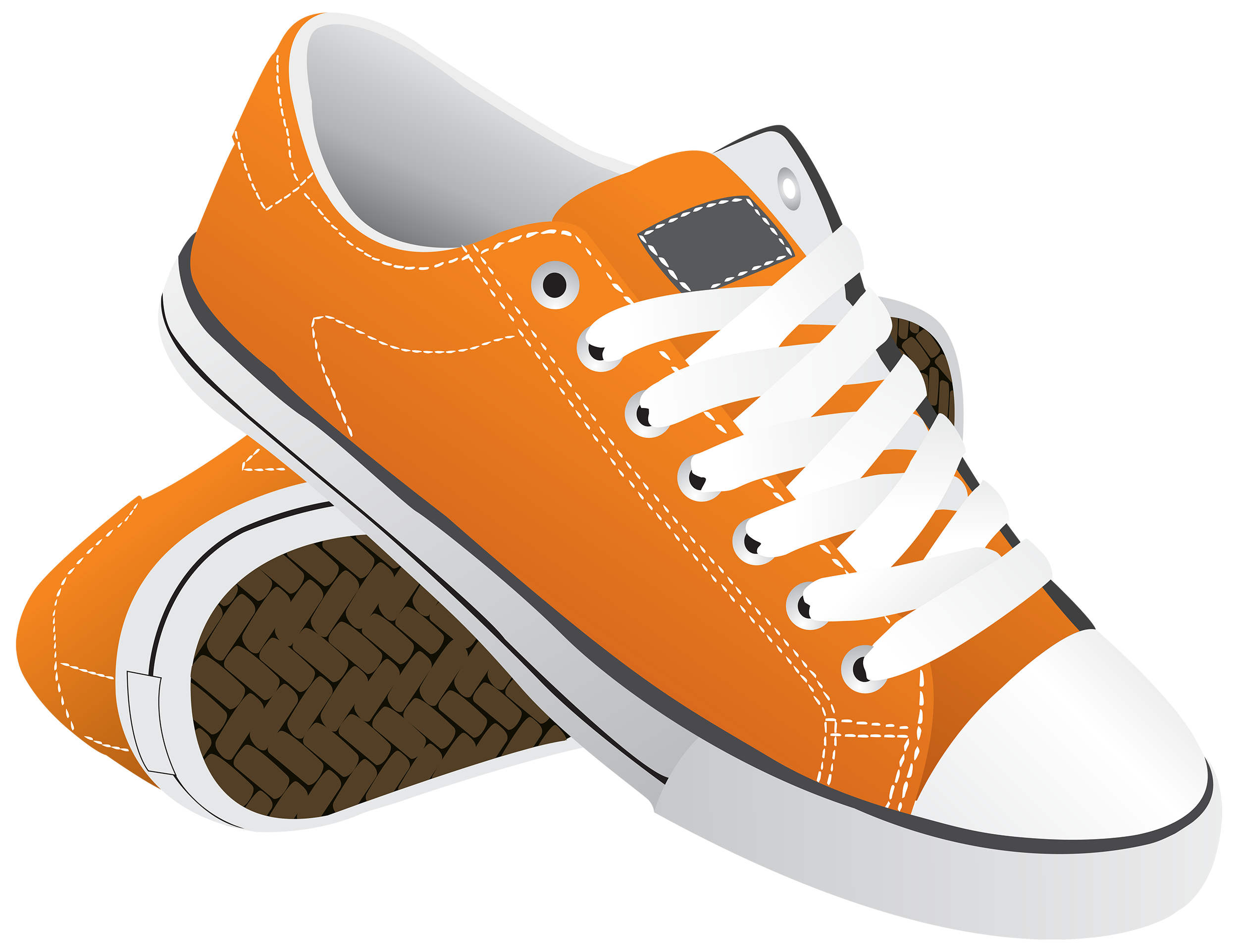 Cartoon shoes png. Orange sneakers clipart best
