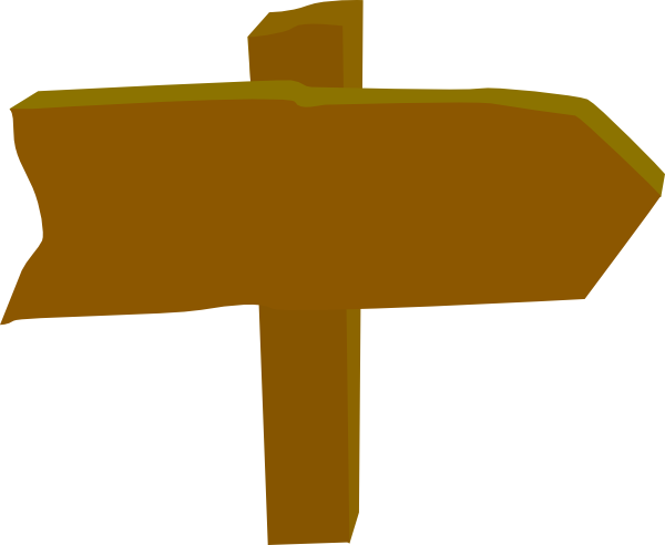 Wood post direction clip. Sign clipart vector freeuse stock