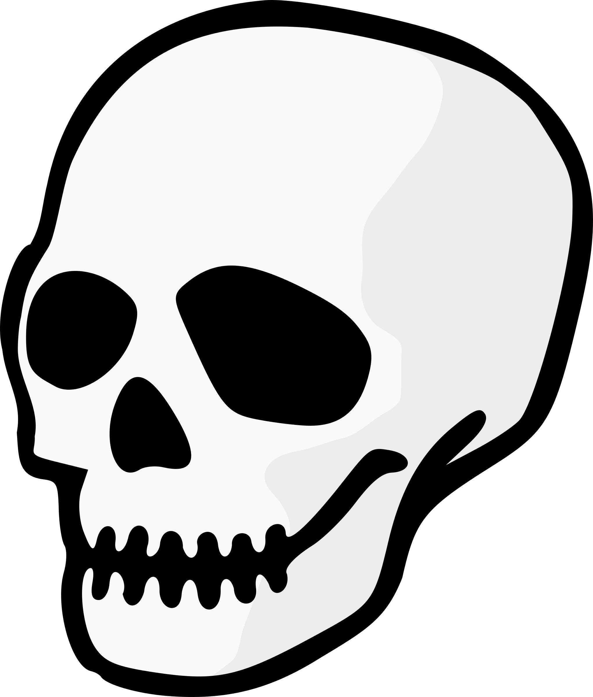 skull drawing png