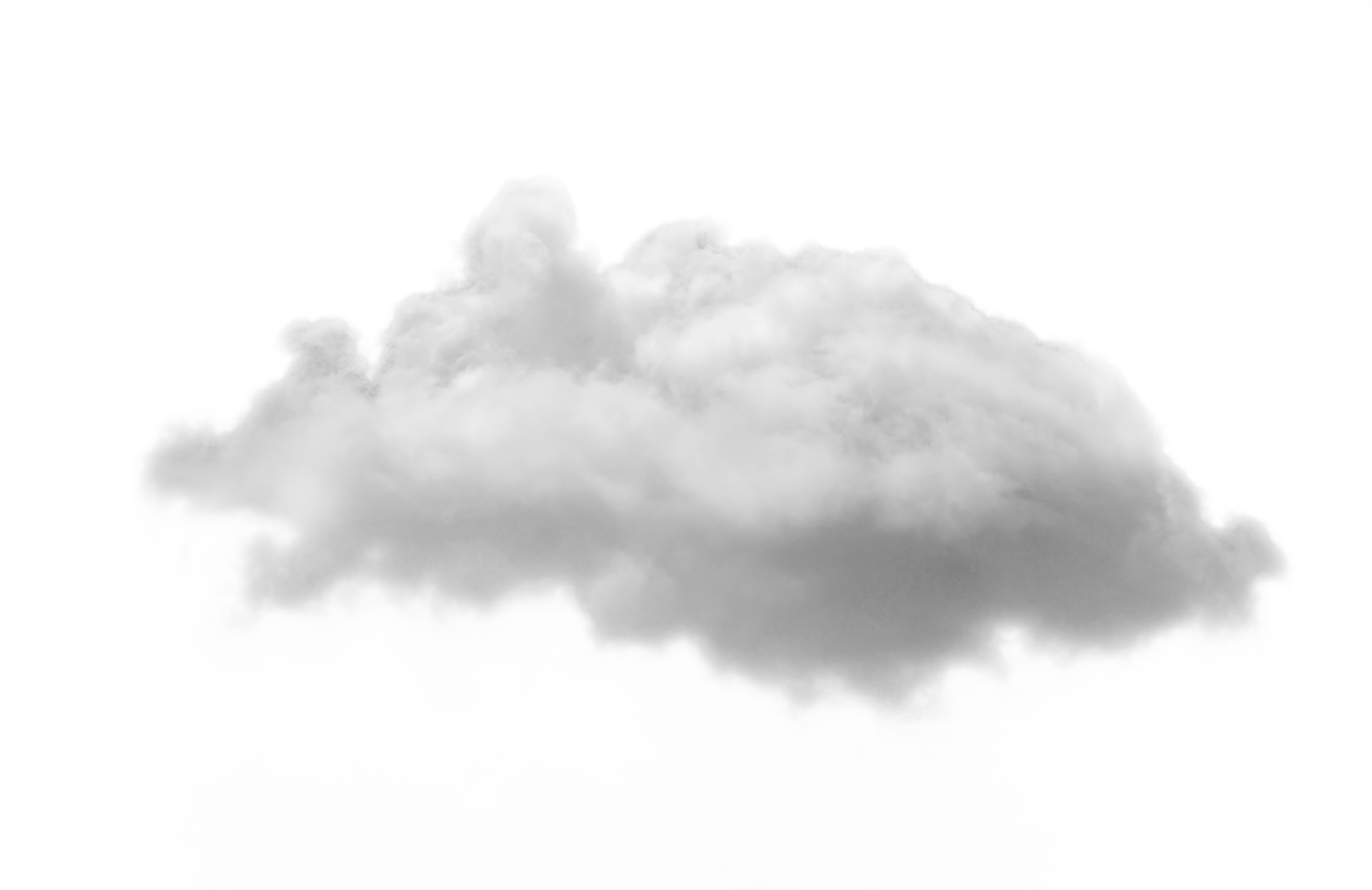 Cartoon smoke cloud png. One isolated stock photo