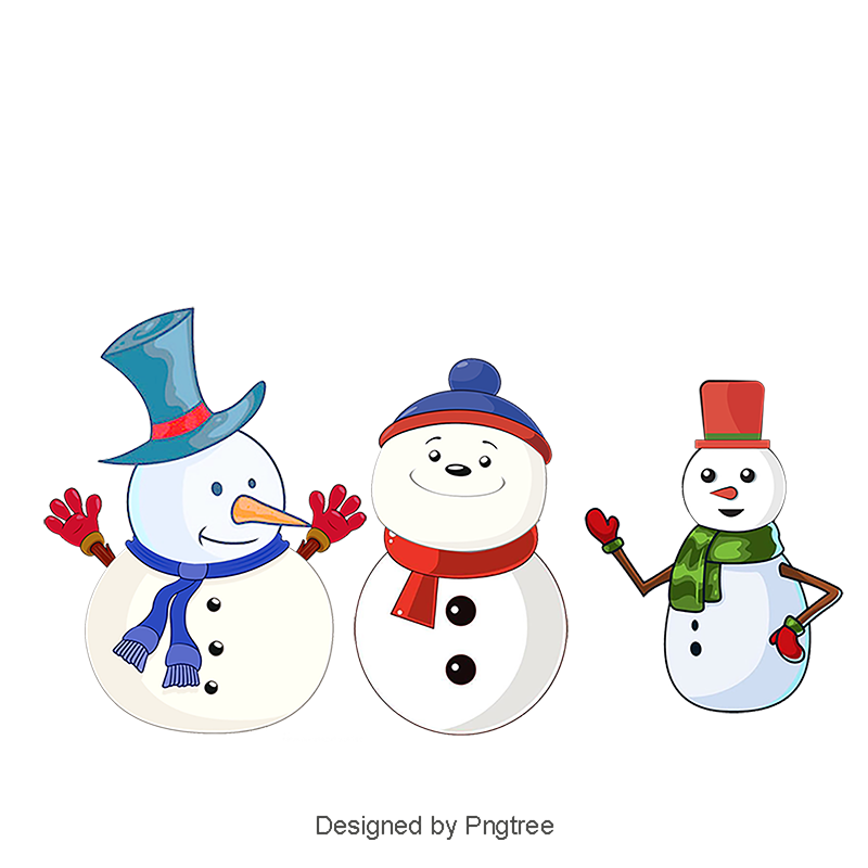Cartoon snow png. Snowman christmas background greeting